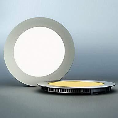 LED-Licht, 60 helle, moderne ultradünne Runde Aluminium PC-Gehäuse Weiß-90-240V #417
