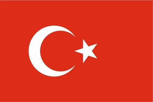 Autoaufkleber Sticker Fahne Flagge Aufkleber 10cm Türkei laminiert sehr lange Haltbar