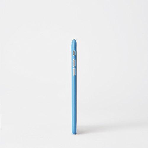 chimpcase iPhone 7 Skinny Case frosty schwarz - Die dünnste iPhone Hülle der Welt - extra Grip Oberfläche - ultraleichte iPhone Schutzhülle Bumper Cover solid niagara blue(Late 2017)