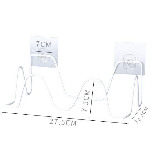 CHLCH 2 stücke einfache Balkon wandbehang Hausschuhe Rack wandbehang Seite weiß 27 * 13,3 * 7,5 cm -