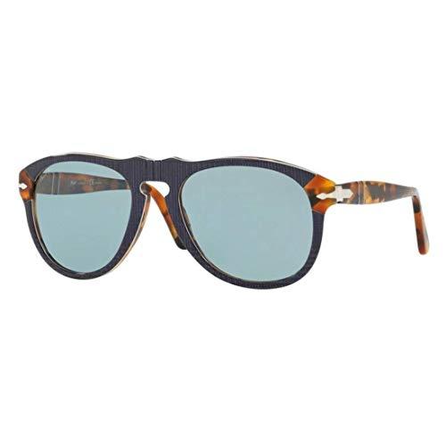 Ray-Ban Herren 0PO0649 Sonnenbrille, Schwarz (P.Galles Blue), 54.0