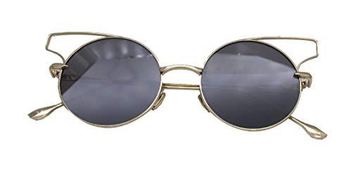 Saino Rechteckig Sonnenbrillen Damen Sonnenbrille Frauen Outdoor-Brille Rund Hippie Brille Top Etui&Brillentuch Brille Night Vision
