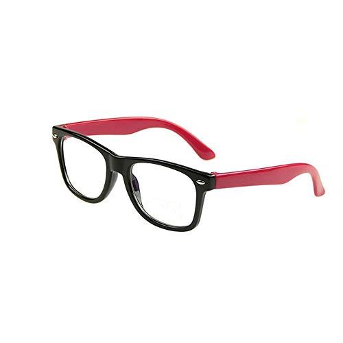 Kinder Anti Blue Light Goggle, UV Schutz Lesen Bücher Brillen Computerspiel Kinder Mode Brille für (Jungen Mädchen)-red -