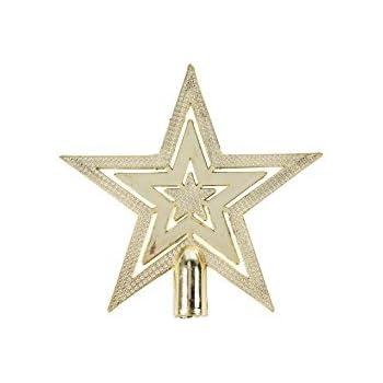 mini 10cm gold shiny embossed star christmas tree topper decoration kitchen home. Black Bedroom Furniture Sets. Home Design Ideas