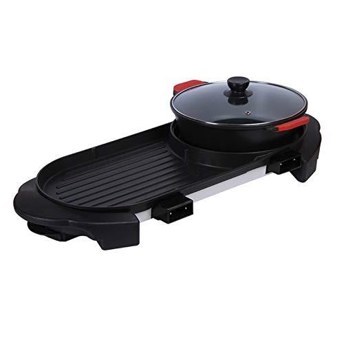 WWDS Paniera Multifunzionale,Multi-Funzione Elettrico Pot Caldo,de Grande capacità Teglia da Forno Elettrico,Senza Fumo Macchina Barbecue-a 74 * 35cm