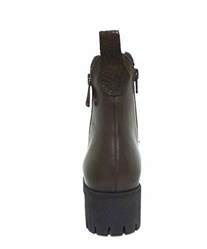 CAF NOIR FC116 t. chaussures foncées de talon de chaussure de femme à double zip Marron