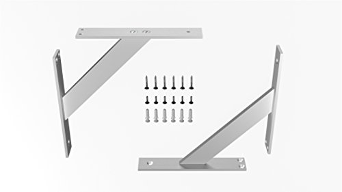 EMT-DESIGN Pair of Modern! Aluminum! Shelf Brackets Support