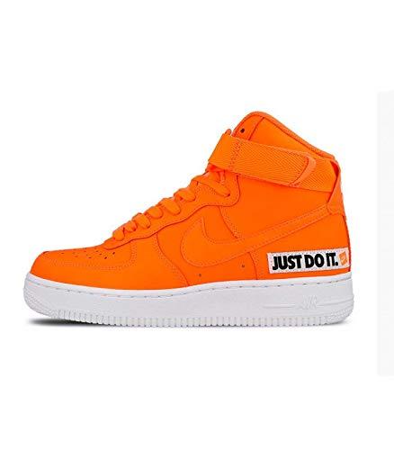 Nike Air Force 1 High LX Leather, Scarpe da Ginnastica Basse Unisex-Adulto, Multicolore Total Orange/White 001, 40 EU