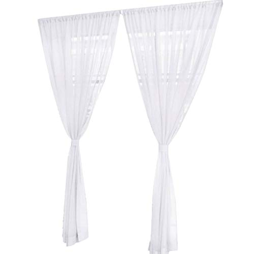 Verwenden Sie Raumluft (Jinzuke Fest Farbe Hochzeit Organdy Haus-Dekor-Tür-Fenster Tüll Voile drapieren bloßer Bunter Vorhang)