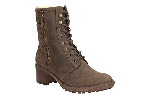 Clarks Maroda Spritz Damen Kurzschaft Stiefel Beige (Taupe Leather)