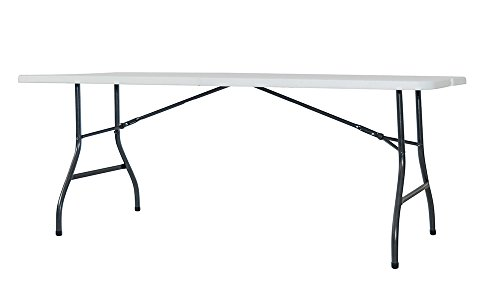 Newstorm Oskar - Mesa plegable, 182.3 x 74.2 x 74.3 cm, color blanco