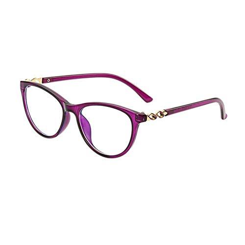 HPTAX-VB Spiegeln Cat Eye Kunststoffrahmen Brille - Spiel Video Brillen Anti Blue Light Vintage Goggle für Männer Frauen