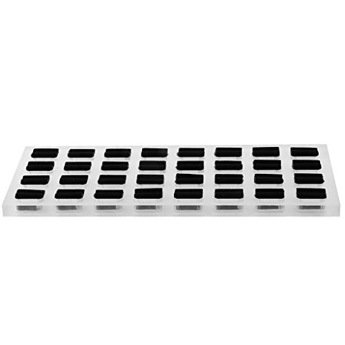 FLAMEER Schmuck Box Ring Display Organizer Tablett-Halter Ohrringe Aufbewahrung Fall Ringe Schmuck Display - klar 32 Slots