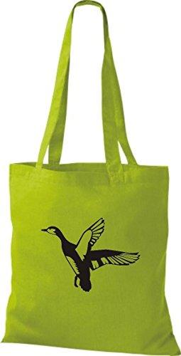 Shirtstown Stoffbeutel Tiere Wildgans, Duck, Ente, Goose Kiwi