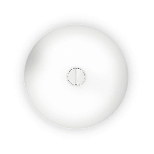 Flos Button Fl Deckenleuchte/ Wandleuchte, Opalglas, Polycarbonat, Weiß