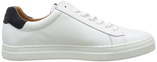 Schmoove Spark Clay, Baskets Basses Homme Blanc (WHITE/AZUL)