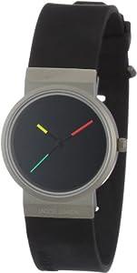Reloj de mujer Jacob Jensen Serie Titanium 650 de cuarzo, correa de goma color negro de Jacob Jensen