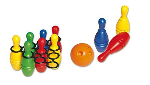 Dohany 413 Bowlingkugel Boule-Spiel Set Party Spielzeug ab 3 Jahren, mit 1 Bälle und 10 Bowling 33cm