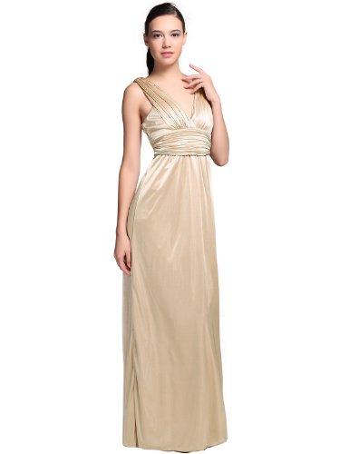 Donna Bella V-Ausschnitt, Eingewickelt Hochzeit Abendkleid Cocktail Brautjungfer Kleid Maxikleid (V-ausschnitt Donna)