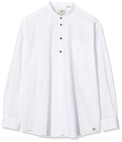 JP 1880 Herren große Größen bis 8XL, Hemd, Oberteil, Leinen-Baumwoll Mischung, Modern Fit, Stehkragen & Brusttasche, weiß 3XL 708636 20-3XL