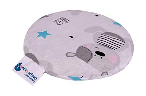 Kirschkernkissen Wärmekissen Körnerkissen für Babys 180g rund 15cm Öko Natur 100% Baumwolle Medi Partners Wärme + Kältetherapie Massagetherapie (Teddybär)