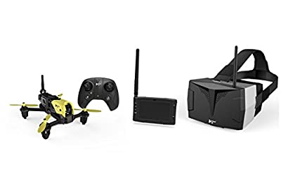 XciteRC Storm Racing 15030750Hubsan X4Drone FPV Quadcopter RTF Drone with HD Camera 4.3Video Glasses with Battery, Charger and Remote Control by Hubsan