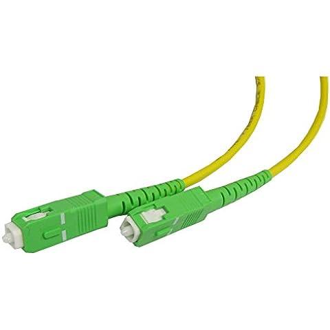 Cablematic - Cable de fibra óptica SC/APC a SC/APC monomodo simplex 9/125 de 5 m