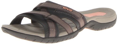 Teva Womens Tirra Slide Sandal,Brown,10 M US Brown