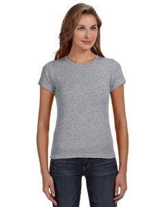 Anvil 1441Amboss Damen-Ringgesponnene 1x 1Baby Rib Scoop T-Shirt, Damen, Grau Meliert, X-Large -