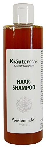 Weidenrinden-Haar-Shampoo 1 x 250 ml - Laus-Shampoo - Weidenrinden-Shampoo - Spezialpflege - mit Extrakten aus Meersalz und Rosmarin - ohne Paraffine