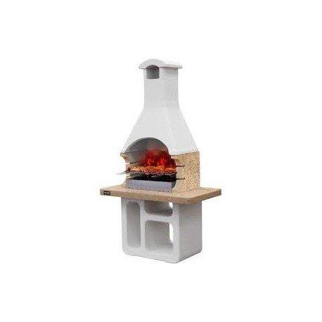 barbecue in muratura sunday utilizzabile a legna e/o carbonella mod victoria crystal