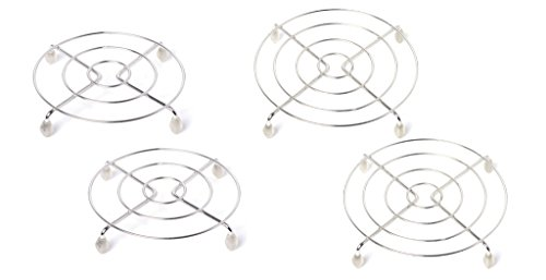 Embassy Stainless Steel Trivet/Table Ring Set, Round, Set of 4 - Small (15 cms, 2 Pcs.) & Big (20 cms,...