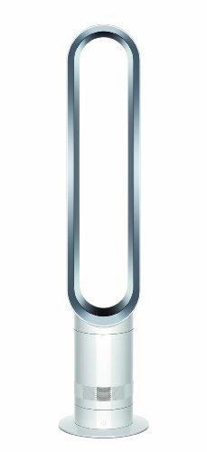 Dyson AM07 Turmventilator (10 Luftstromstärken für angenehme Kühlung, sicher und einfach zu reinigen, Fernbedienung) weiß
