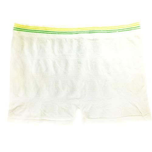 6PK Seamless Postpartum Breifs Nachchirurgie Kurze Übergänge Unterwäsche Einweg-Lieferung Slip Mutterschaft Pad-Halter Spandex Boxer Shorts (L/XL - Taille 33,5