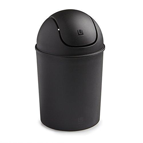 Umbra Mini Recycled Polypropylene Waste Can, Black by Umbra