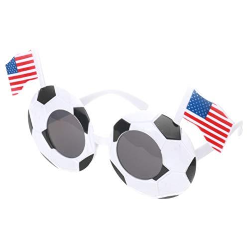 Fußball Fan Kostüm Kreative - NUOBESTY Fußball Sonnenbrille Weltcup Fan Kostüm Brillen mit National Flag DIY Deko für Fußball Gastgeschenke