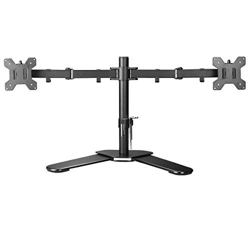 """Suptek Monitorhalterung Tischhalterung für 13""""-27"""" TFT/LCD/LED Flach Bildschirme mit Vesa 75 und 100 Standard bis 12 KG pro Halter Schwenkbar Neigbar Drehbar"""