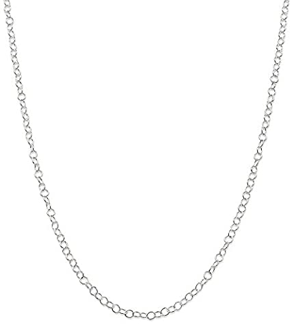 IceCarats 925 Sterling Silver 3.5mm Link Cable Chain Necklace 24 Inch Rope Fancy