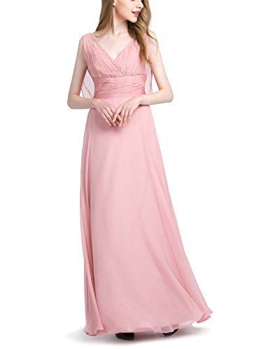 Find Dress Robe Demoiselle d'Honneur Femme/Fille Rose Robe de Mariée Princesse Femme Dos Nu Robe de Cocktail Femme Longue pour Mariage Grande Taille Sexy Robe Bal de Promo Rose