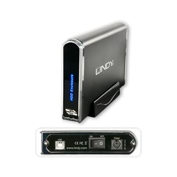 """Lindy  Boitier USB 2.0 pour disques dur 3,5"""" IDE et SATA"""