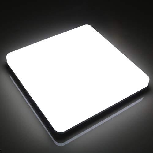 chte 24W Deckenlampe IP44 Wasserfest Warmweiß 6000K 2160LM Panel Kein Flimmern Lampe für Schlafzimmer Badezimmer Balkon Flur Bad Küche Wohnzimmer Ersetzt 150W Glühbirne ()