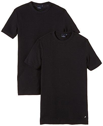 Daniel Hechter Herren T-Shirt O-doublep.slim 10188 474 Schwarz (Black)