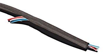Kuryakyn Round-It Wire Tidy/Cable Wrap Black 1/2