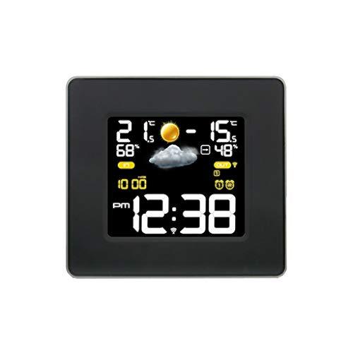 Xinxinchaoshi Estación meteorológica Reloj Despertador electrónico Pronóstico del Tiempo Reloj 4...