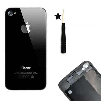 HIPOPAPO - Coque arrière de remplacement vitre iPhone 4S Noir. Livré avec tournevis pentalobe