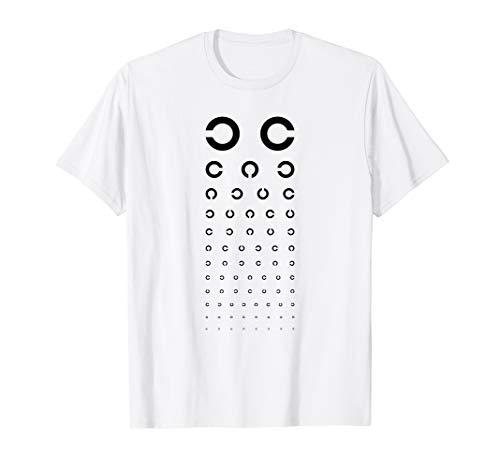 Sehtest T-Shirt Optiker Shirt Brillenträger Shirts