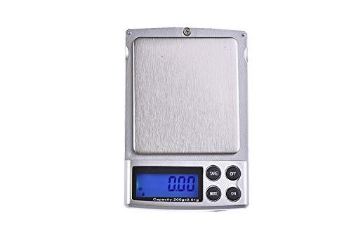 Quantum Abacus Precise: Báscula / balanza digital para correo / joyería / pesacartas / microbalanza / pesillo / balanza de bolsillo, graduación precisa de 200gr / 0,01gr, Mod. A06-200g.0.01
