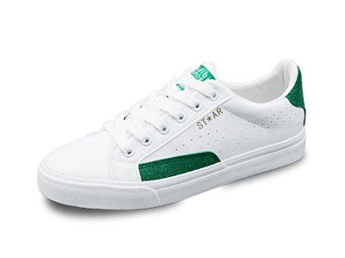 Sapatos Shfang Jogos De Tabuleiro Lazer Movimento Permeabilidade Confortável Fundo Plano Desgaste Correndo Verde Branco Verde Branco