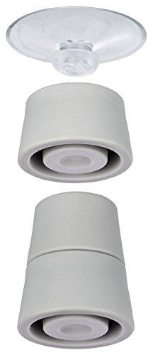 Wenko 2521902100 Pied pour Plaque de Protection Plastique Gris 24,5 x 10 x 2,5 cm 4 Pièces