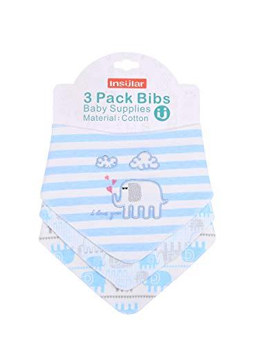 Enfant Bébé Bandana Dribble Bavettes avec Boutons De Presse Coton 0-3 Ans Pack De 6Pieces Pack,Babyelephant